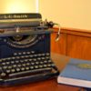 """Upon walking into the first escape room at  Champaign-Urbana Adventures in Time and Space, teams will notice the professor's typewriter and copy of """"Hidden Treasures in Literature; Book One."""" C-U Adventures challenges players to """"save the world."""""""