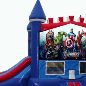 Avengers Bounce house with slide