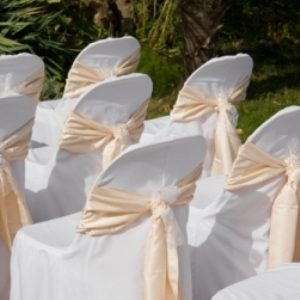 Chair Covers with Chair Tie
