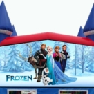 Frozen themed bounce house