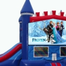 Frozen themed bounce house with slide