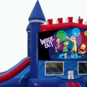 Inside Out Bounce house with slide