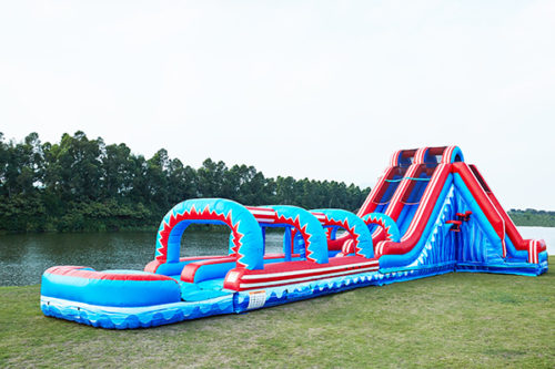 Mega wave water slide