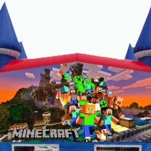 Minecraft themed Bounce House