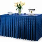 Satin Stripe Table Skirts