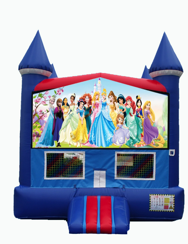 Disney Princess Themed Bounce House