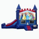 Princess themed bounce house with slide