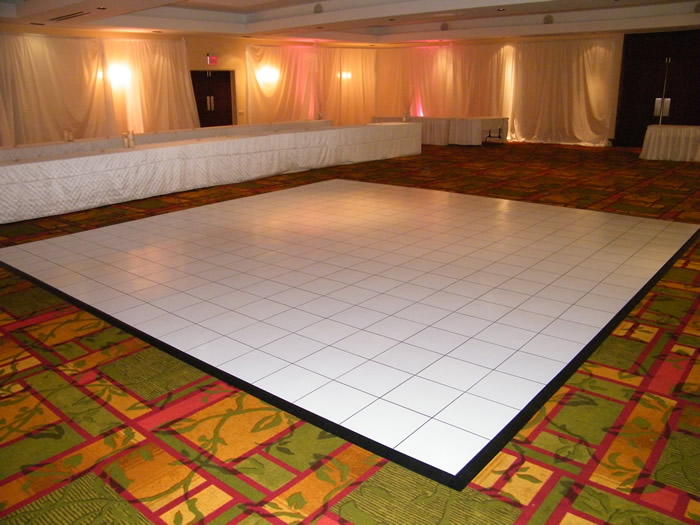 Destination Events White Slate Dance Floor 15x15