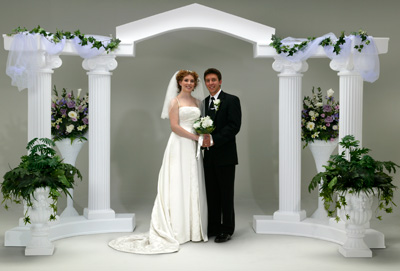 Destination Events Colonnade Wedding Arch Way 9 Piece