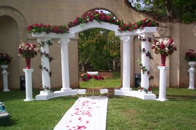 destination events colonnade wedding arch way 9 piece destination events. Black Bedroom Furniture Sets. Home Design Ideas