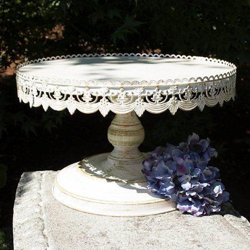 White classic cake stand