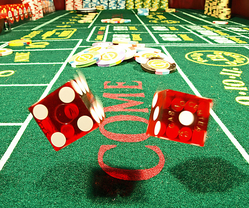 Craps Table With Dealer - Destination Events