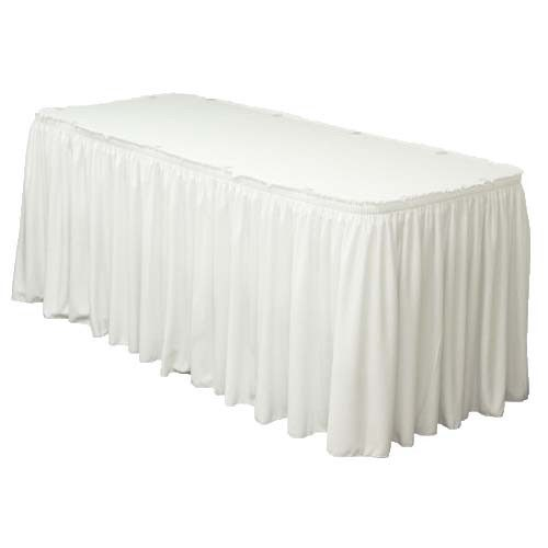 White table skirt