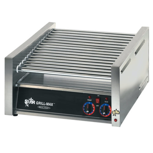 star-45c-grill-max-45-hot-dog-roller-grill-with-chrome-rollers-slanted